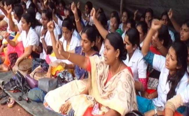 സർക്കാർ നിശ്ചയിച്ച നേഴ്സുമാരുടെ ശമ്പള വർദ്ധന നടപ്പിലാക്കാൻ കഴിയില്ലെന്ന് സ്വകാര്യ മാനേജുമെന്റുകൾ